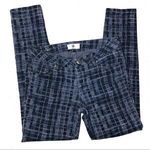 CAbi Jeans - CAbi Jeans Grid Print Skinny Jeans